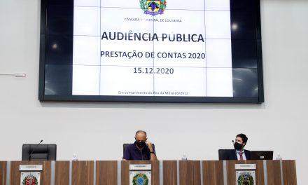 Câmara realiza prestação de contas e encerra atividades em 2020