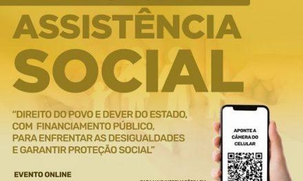 Conferência Municipal de Assistência Social acontece nos dias 24 e 25 de agosto pelo Zoom