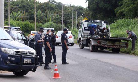 Operação da Guarda e PM fiscaliza documentos e emissão de barulho de motocicletas