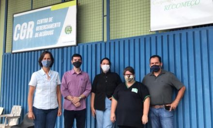 Cooperativa de Reciclagem de Louveira recebe visita de Secretário de Meio Ambiente de Vinhedo