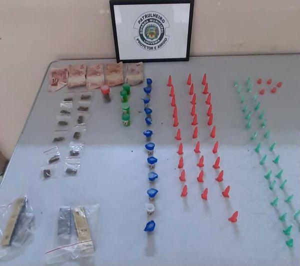 Tráfico em Louveira: um homem é preso e cocaína, crack e maconha são apreendidos