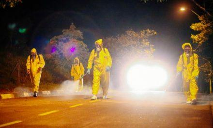 Louveira segue trabalho de desinfecção contra o coronavírus em ruas de sete bairros
