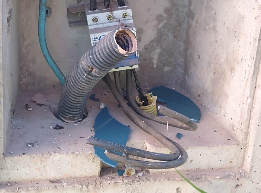 Furto de cabos e equipamentos no reservatório Popular 4 afeta abastecimento de água em seis bairros
