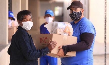 Louveira encerra nesta sexta-feira (16) mais uma rodada da distribuição de cestas de alimentos para a população