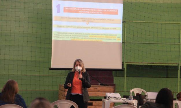 VOLTA ÀS AULAS – Profissionais de Educação passam por formação sobre protocolos sanitários nas escolas
